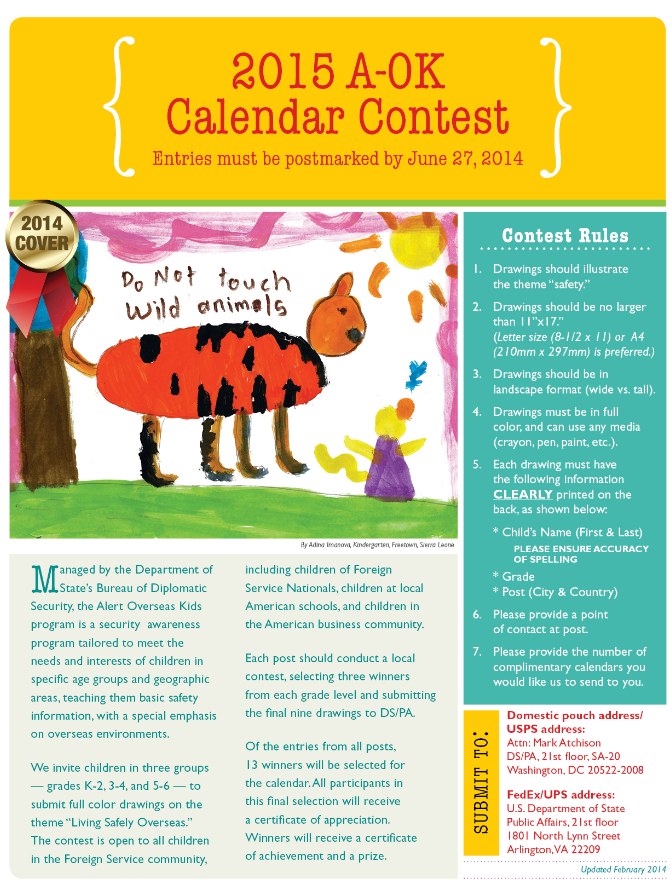 Calendar contest for kids