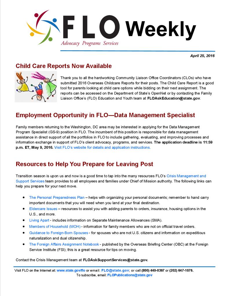 FLO Weekly 4-25-16