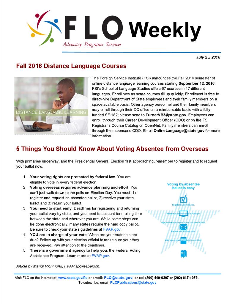 FLO Weekly 7-25-16