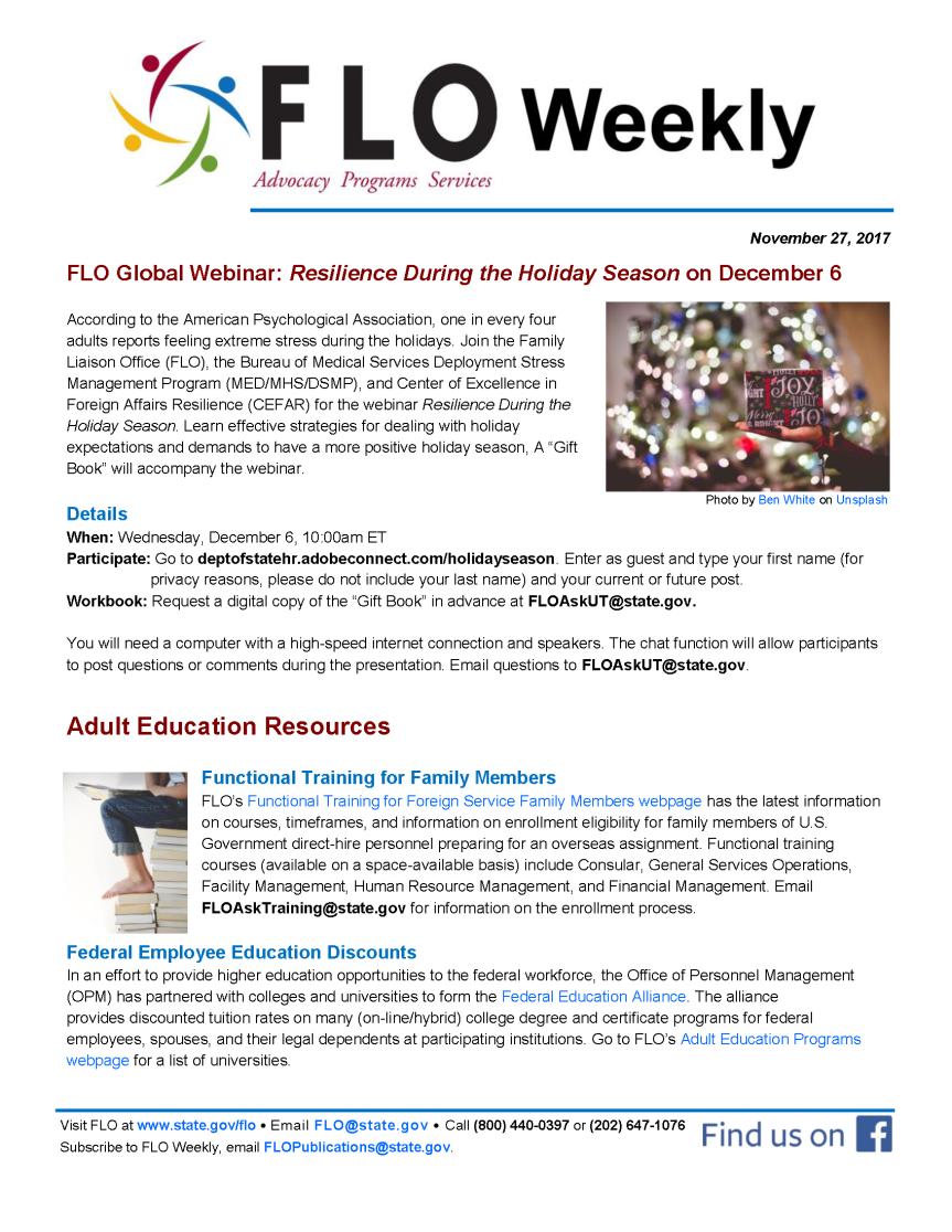 FLO Weekly 11-27-17
